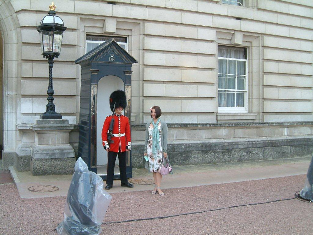 Nicole changes the Guard at Buckingham Palace