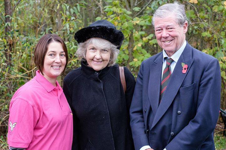 Nicole with Sir Nicholas and Lady Nadine Bonsor.