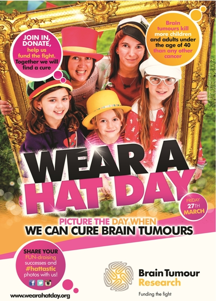 Join Nicole Taylor's team of supporters for Brain Tumour Research's Wear a Hat Day on 27th March 2015!