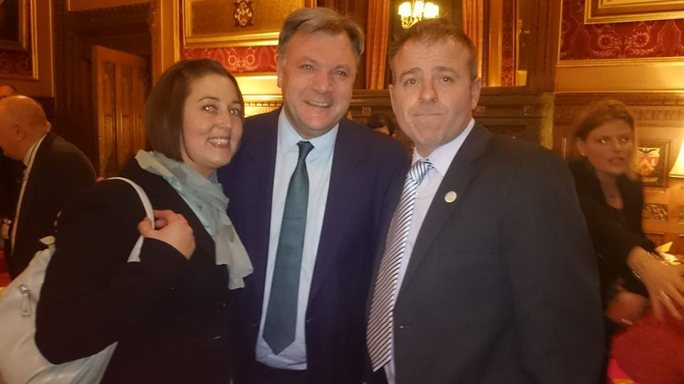 Nicole with Phil Phillips and Shadow Chancellor Ed Balls at the House of Commons