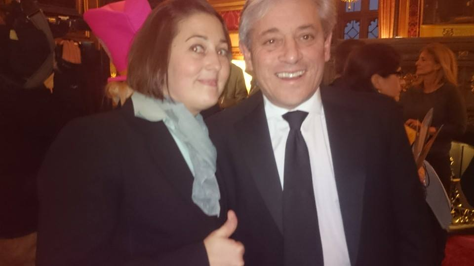 Nicole with Speaker of the House of Commons John Bercow