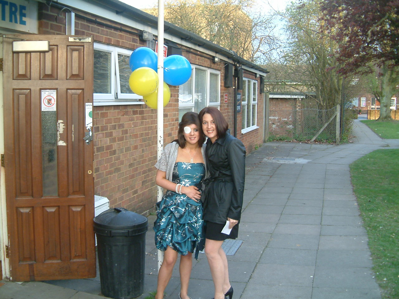 Becky and Nicole outside the venue for the Starlight Evening