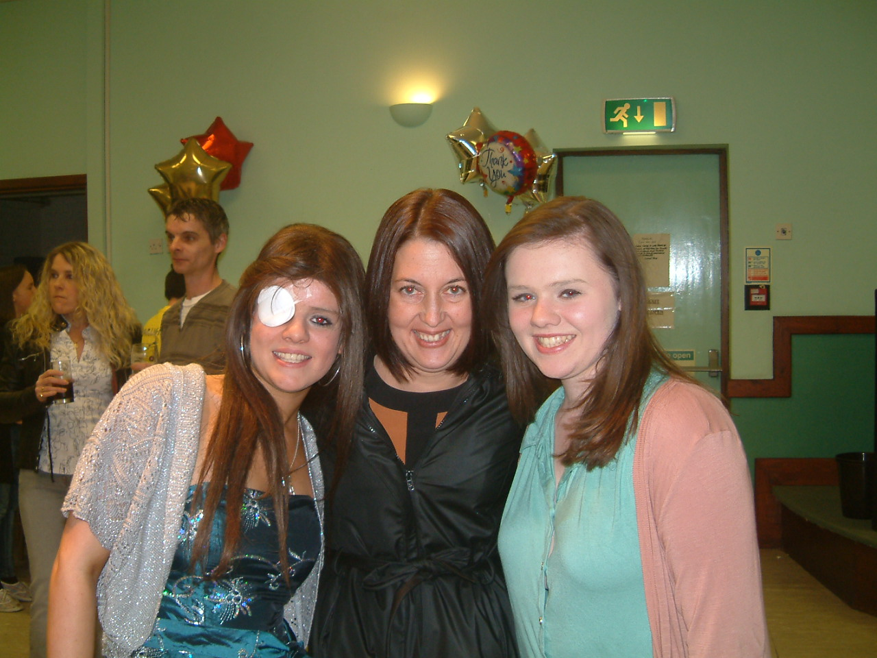 Becky (L) and Danni Griffin (R) with Nicole Witts (C)