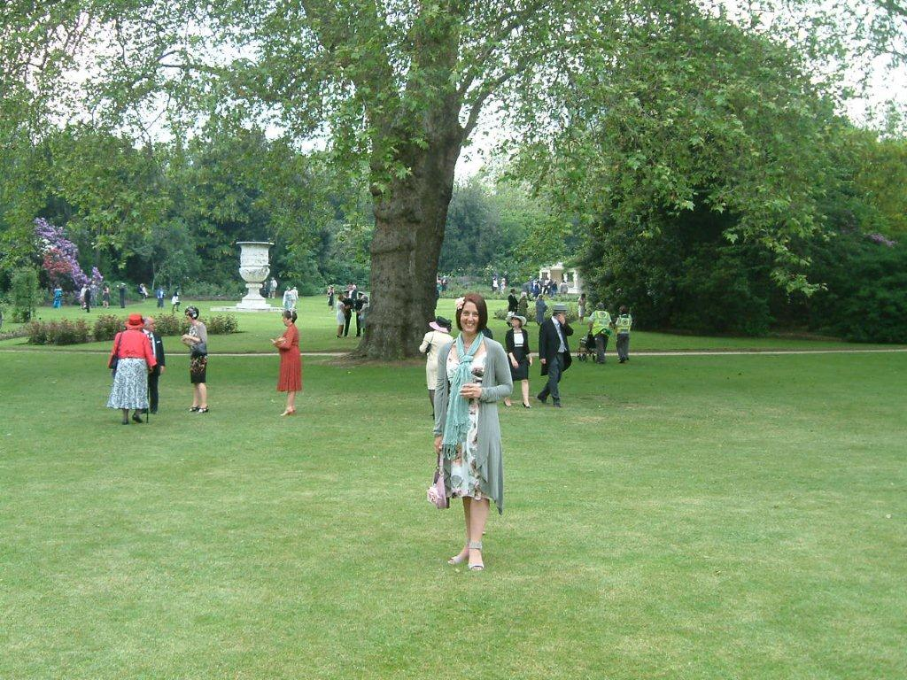 Nicole in the Rose Garden at Buckingham Palace